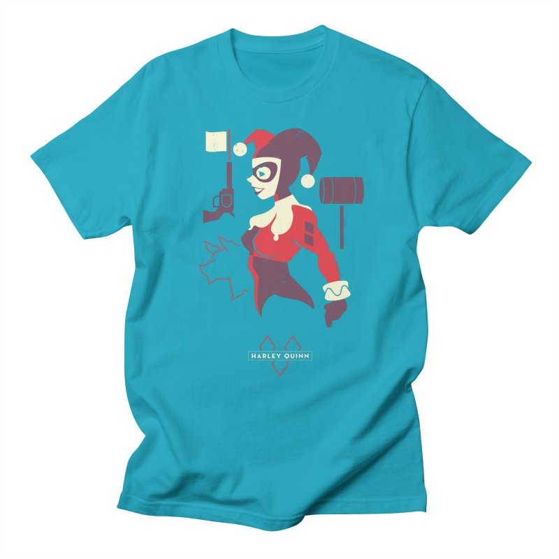 Harley Quin - DC Superhero Profiles Men's T-Shirt by daab Creative's Artist Shop