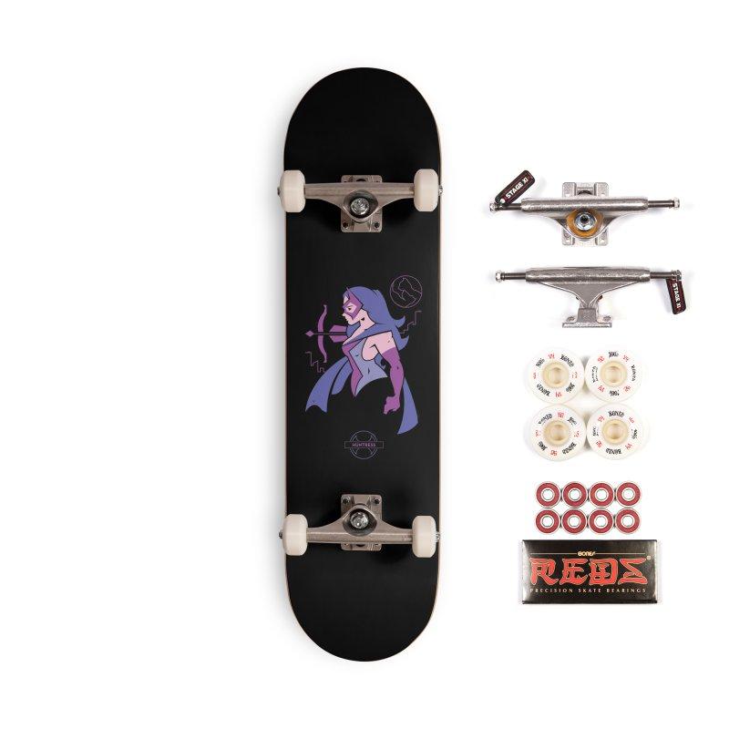 Huntress - DC Superhero Profiles Accessories Skateboard by daab Creative's Artist Shop
