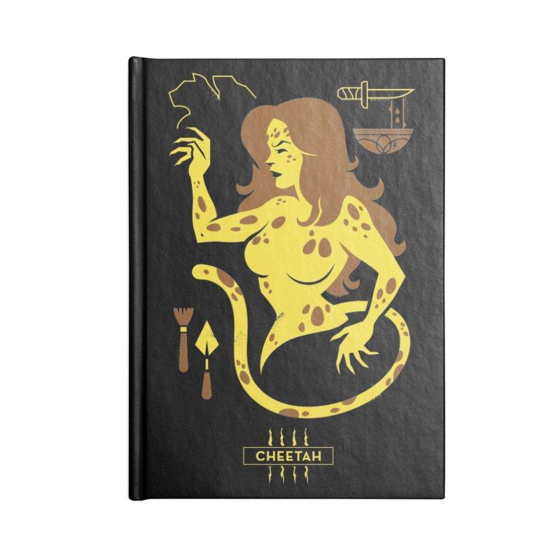 Cheetah - DC Superhero Profiles Accessories Notebook by daab Creative's Artist Shop