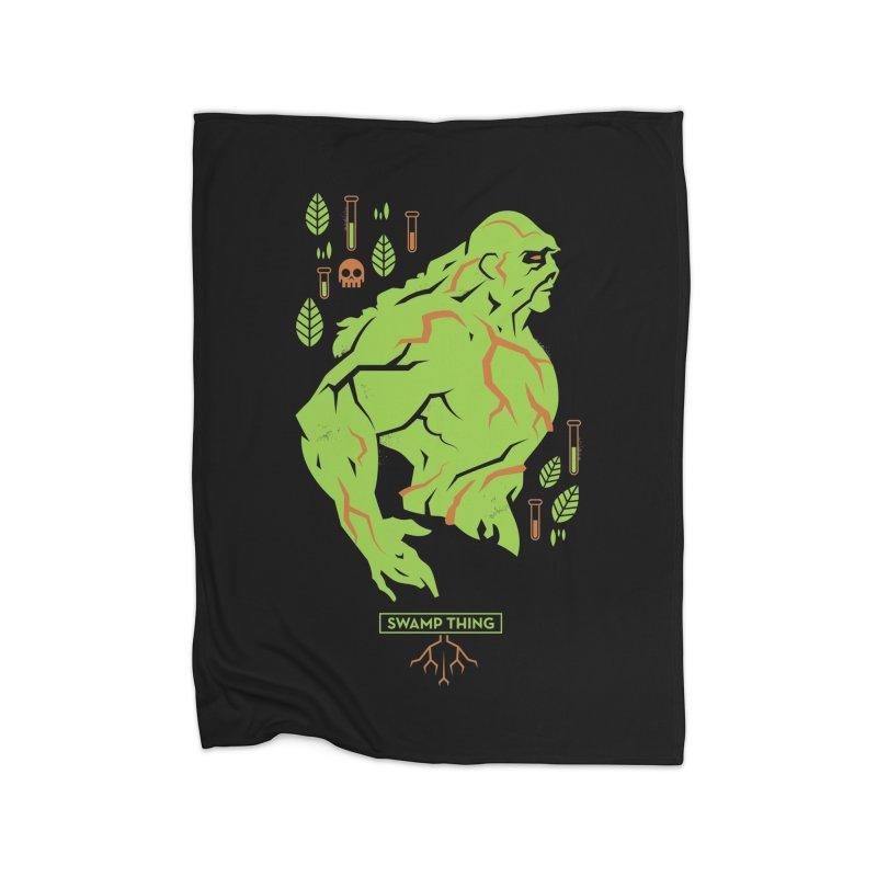 Swamp Thing - DC Superhero Profiles Home Blanket by daab Creative's Artist Shop