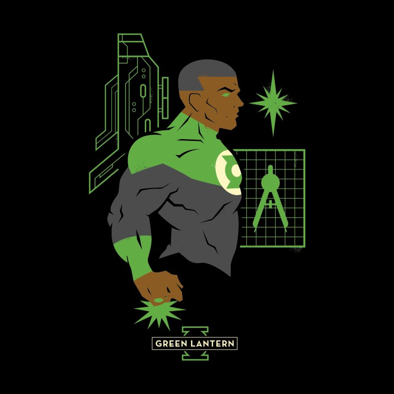 Green Lantern - John Stewart- DC Superhero Profiles Women's T-Shirt by daab Creative's Artist Shop
