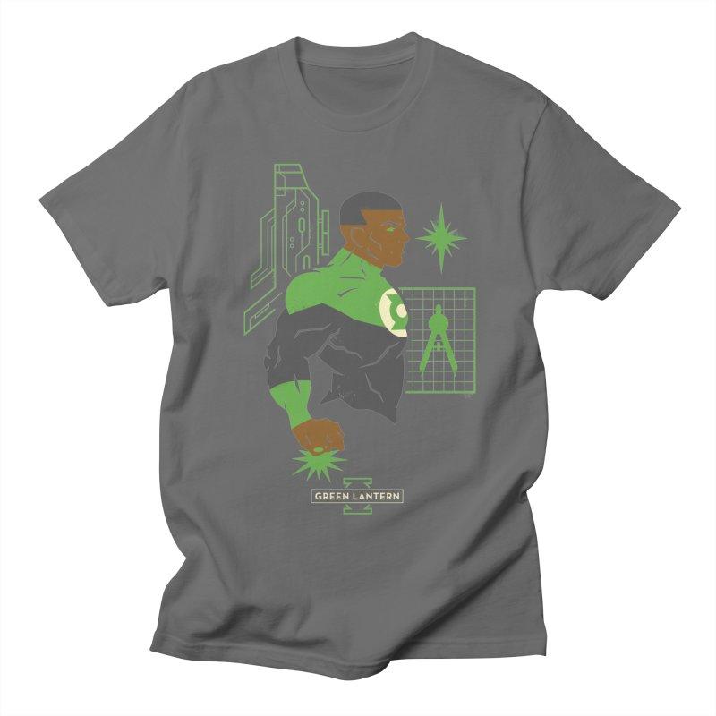 Green Lantern - John Stewart- DC Superhero Profiles Men's T-Shirt by daab Creative's Artist Shop