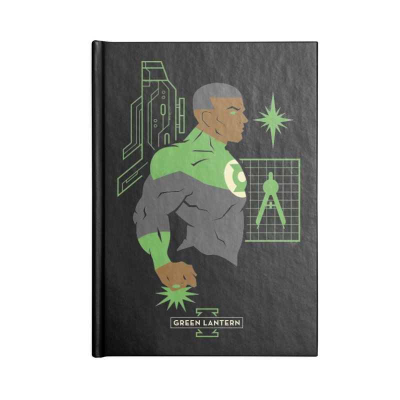Green Lantern - John Stewart- DC Superhero Profiles Accessories Notebook by daab Creative's Artist Shop