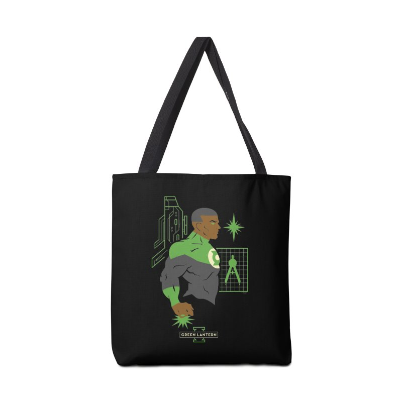 Green Lantern - John Stewart- DC Superhero Profiles Accessories Bag by daab Creative's Artist Shop