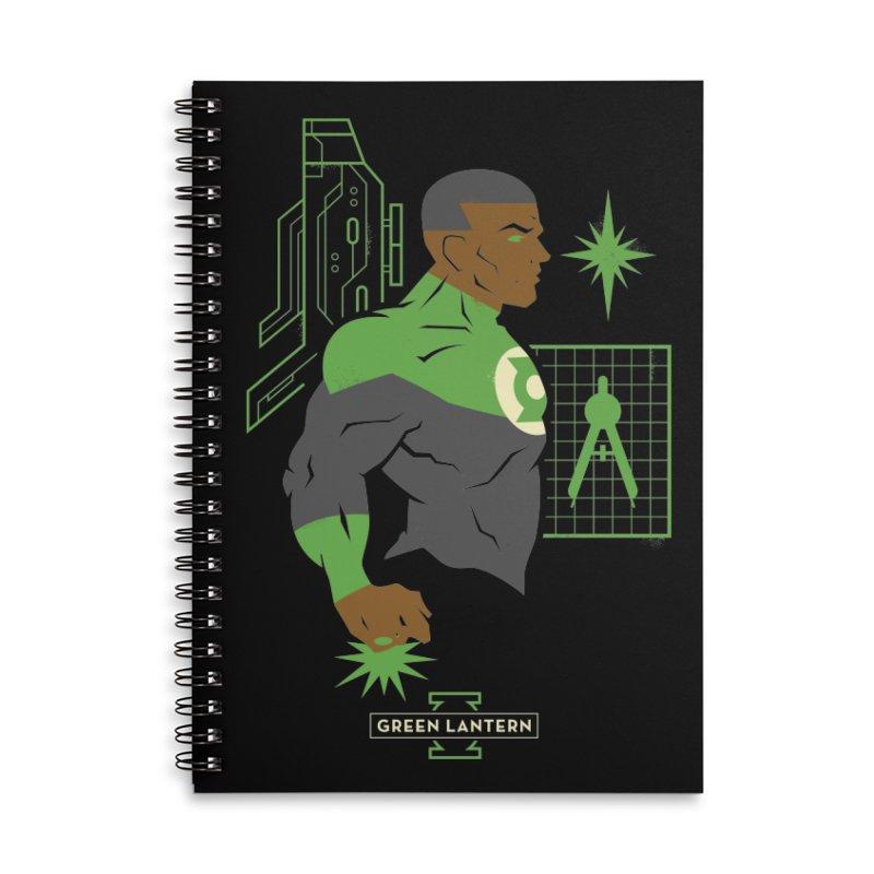 Green Lantern - John Stewart- DC Superhero Profiles Accessories Notebook by daab Creative's Artist Shop