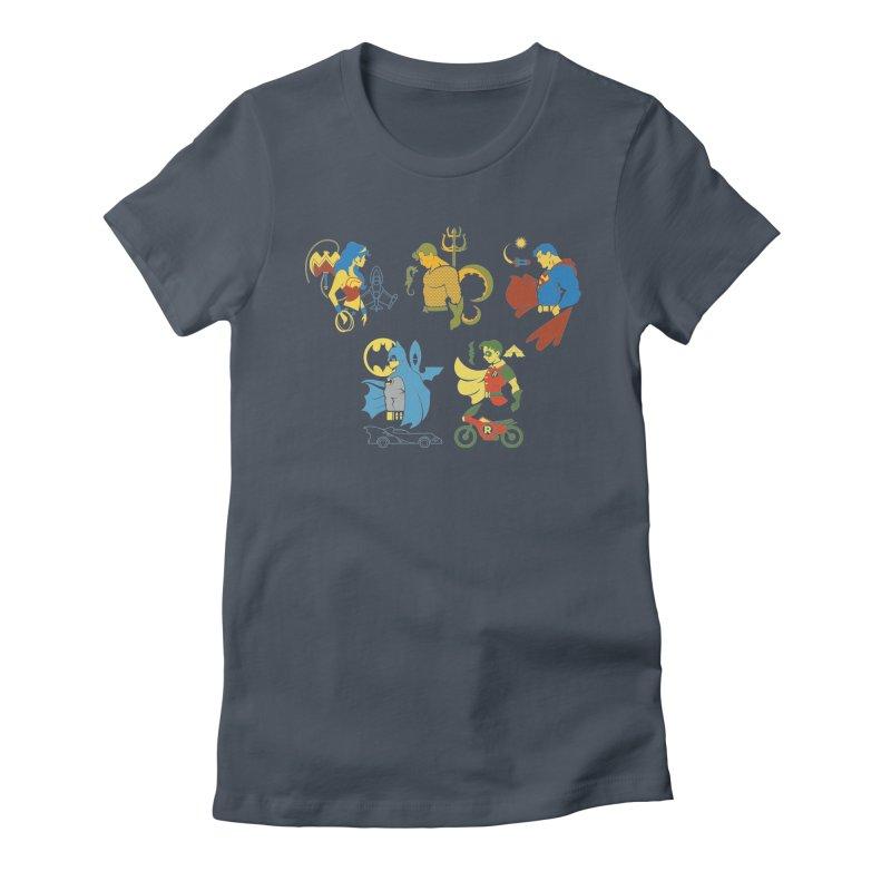 The Super Friends - DC Superhero Profiles Women's T-Shirt by daab Creative's Artist Shop