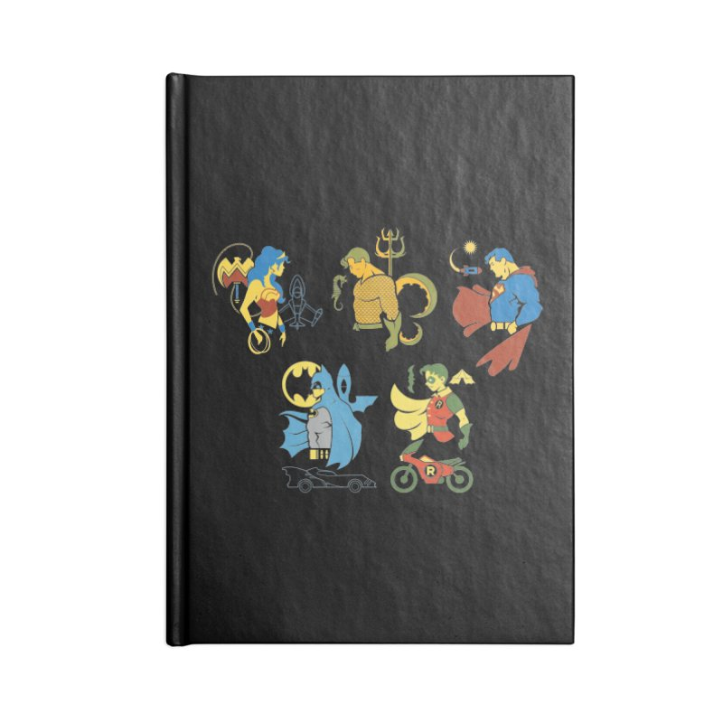 The Super Friends - DC Superhero Profiles Accessories Notebook by daab Creative's Artist Shop