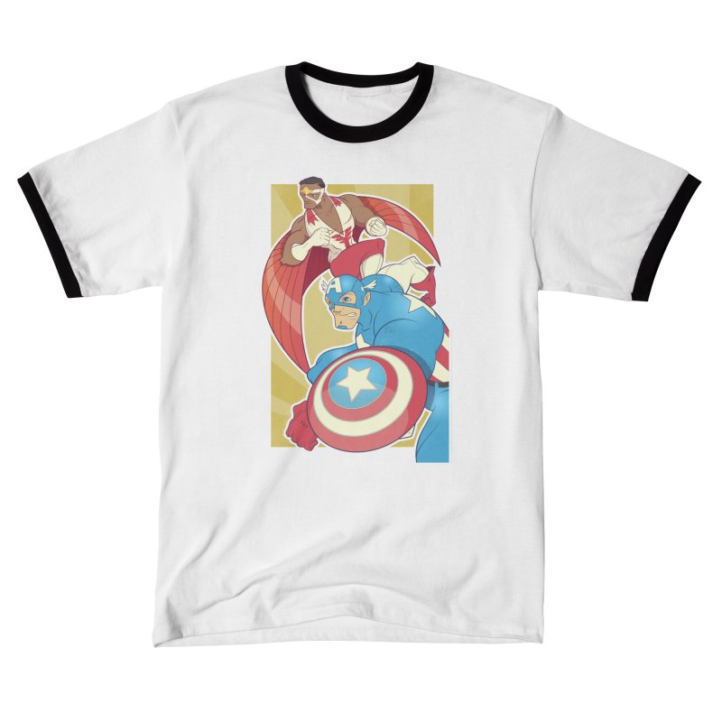 Captain America & Falcon Men's T-Shirt by daab Creative's Artist Shop