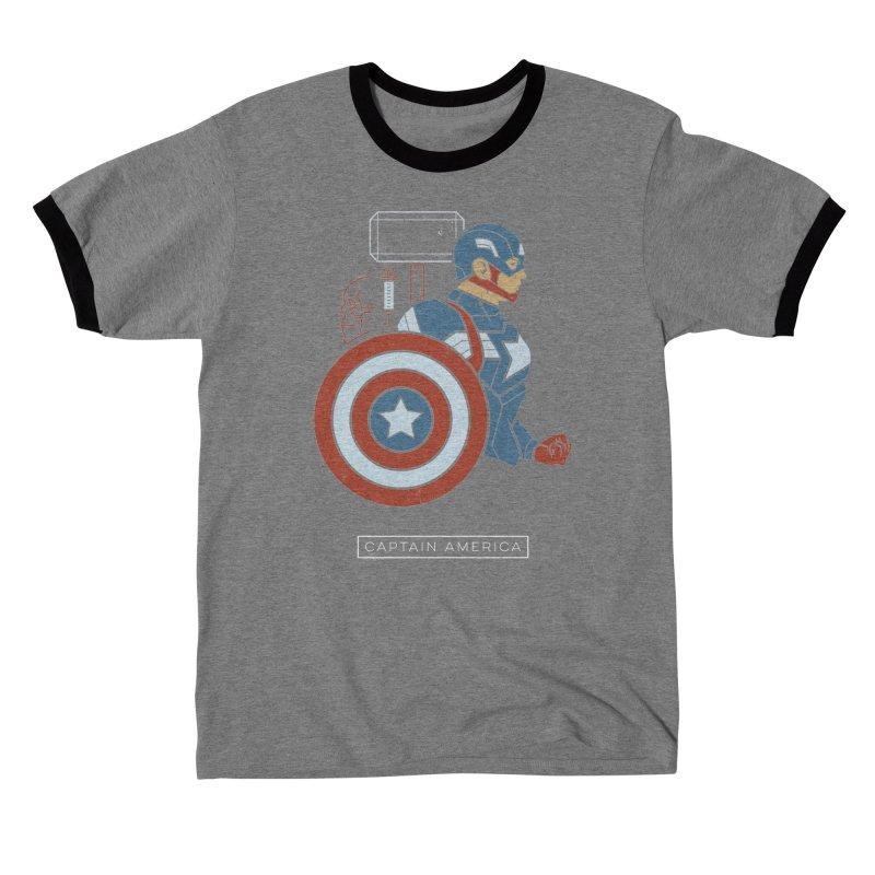 Superhero Profile: Captain America Men's T-Shirt by daab Creative's Artist Shop