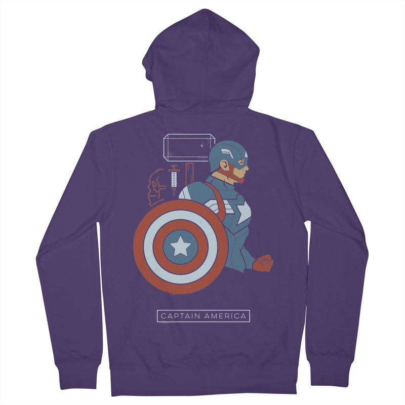 Superhero Profile: Captain America Women's Zip-Up Hoody by daab Creative's Artist Shop