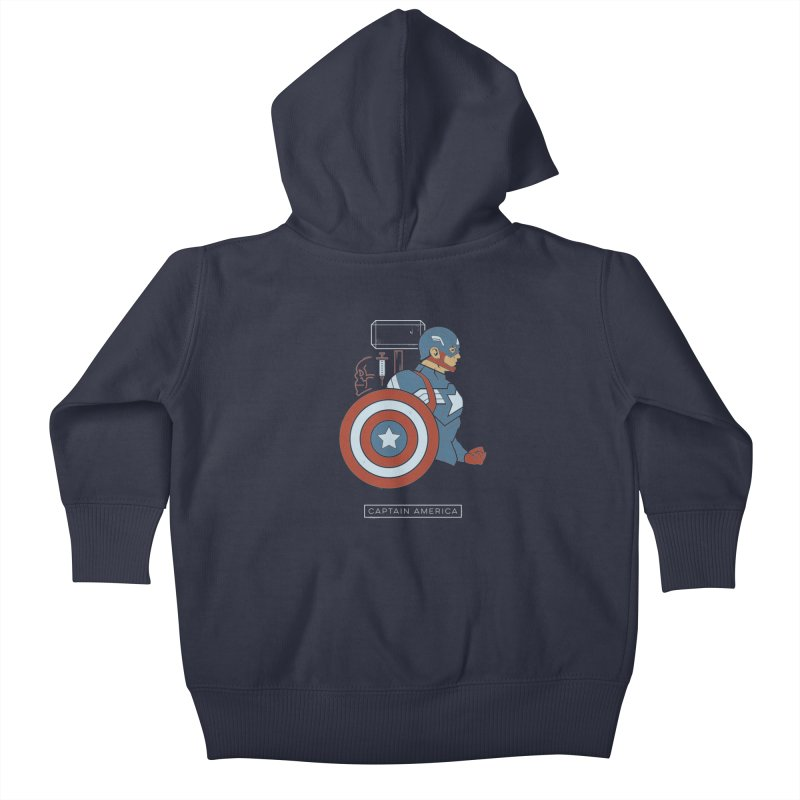 Superhero Profile: Captain America Kids Baby Zip-Up Hoody by daab Creative's Artist Shop