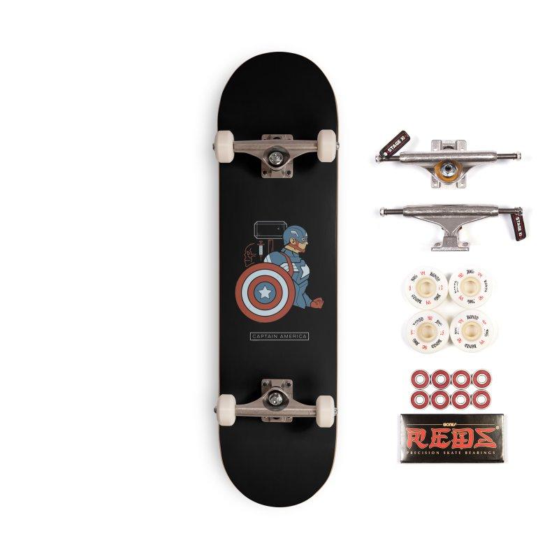 Superhero Profile: Captain America Accessories Skateboard by daab Creative's Artist Shop
