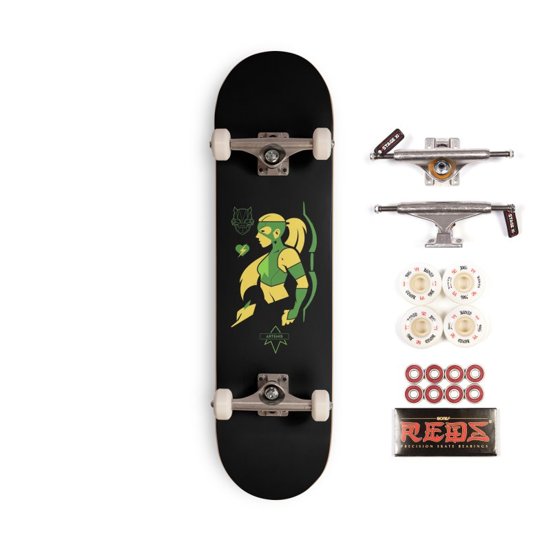 Artemis - DC Superhero Profiles Accessories Skateboard by daab Creative's Artist Shop