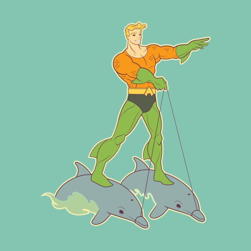 Aquaman Riding Dolphins! Accessories Mug by daab Creative's Artist Shop