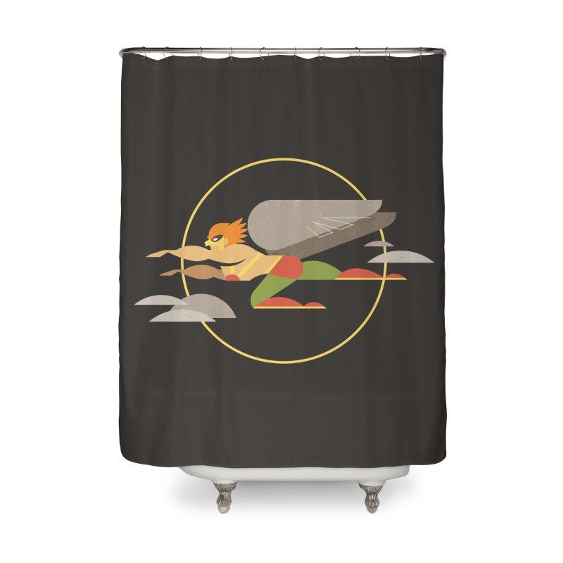 The Flight Of Hawkman Home Shower Curtain by daab Creative's Artist Shop