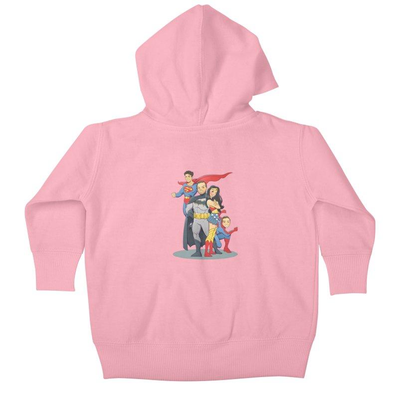 Super Family Kids Baby Zip-Up Hoody by daab Creative's Artist Shop