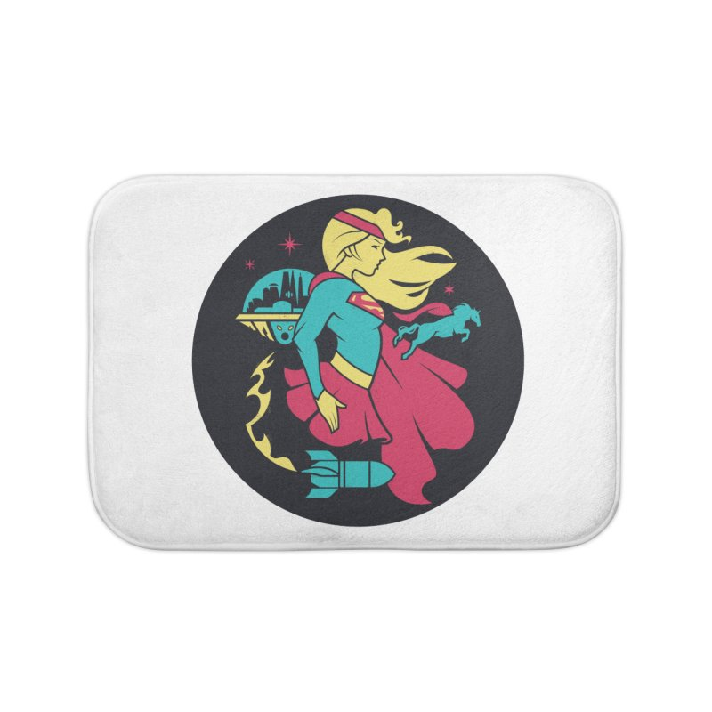 Supergirl - DC Superhero Profiles - w BKG Home Bath Mat by daab Creative's Artist Shop