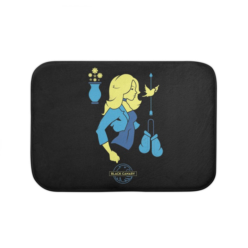 Black Canary - DC Superhero Profiles Home Bath Mat by daab Creative's Artist Shop