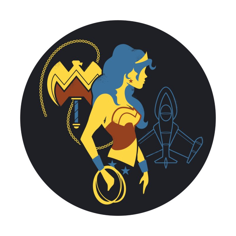 Wonder Woman - DC Superhero Profiles - w BKG by daabcreative's Artist Shop