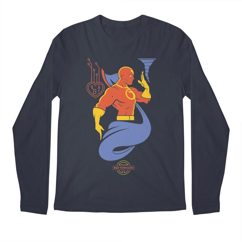 Red Tornado - DC Superhero Profile Men's Regular Longsleeve T-Shirt by daab Creative's Artist Shop