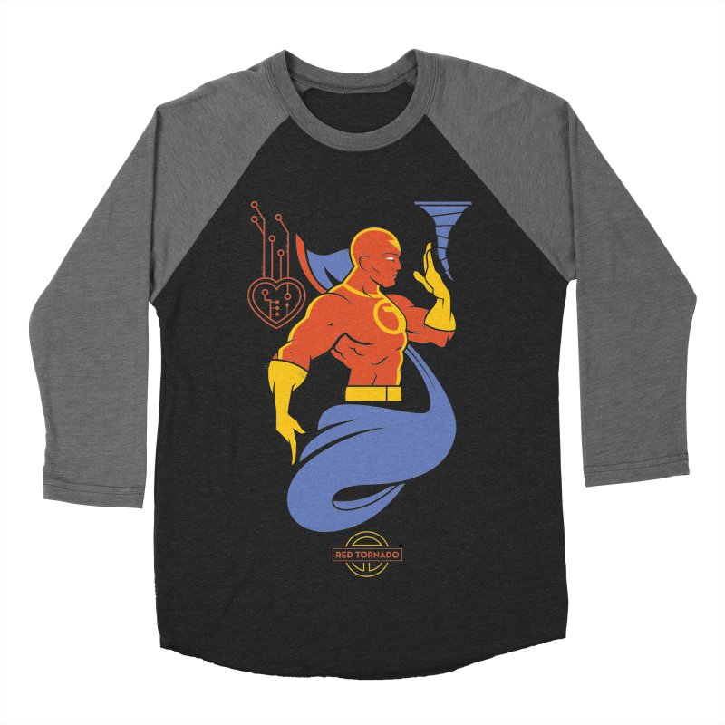 Red Tornado - DC Superhero Profile Women's Baseball Triblend Longsleeve T-Shirt by daab Creative's Artist Shop