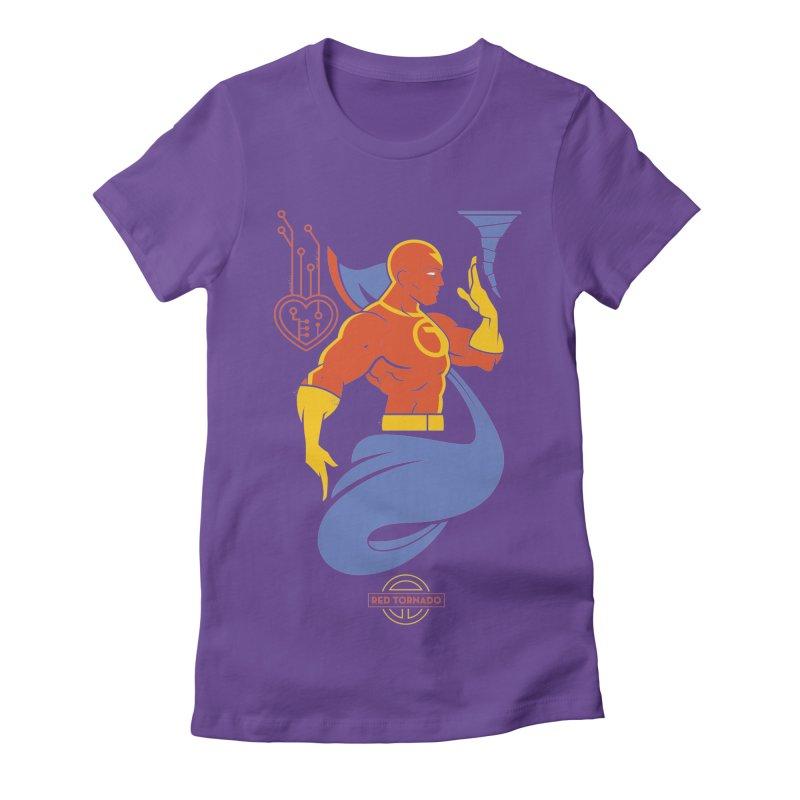 Red Tornado - DC Superhero Profile Women's Fitted T-Shirt by daab Creative's Artist Shop