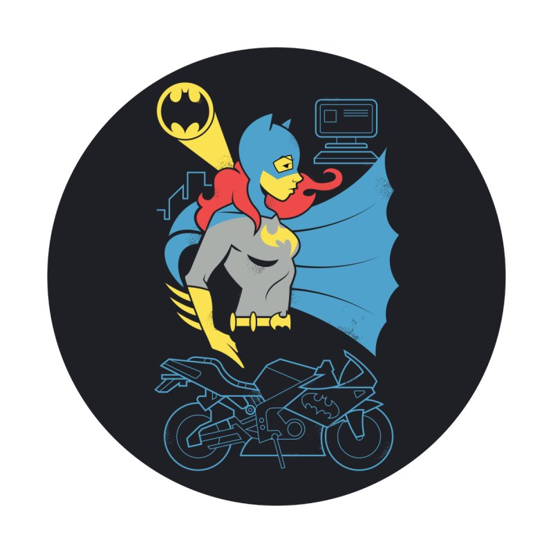 Batgirl - DC Superhero Profiles - w BKG by daabcreative's Artist Shop