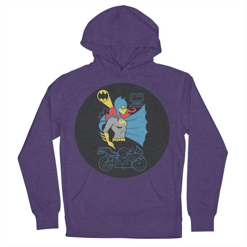 Batgirl - DC Superhero Profiles - w BKG Men's French Terry Pullover Hoody by daab Creative's Artist Shop