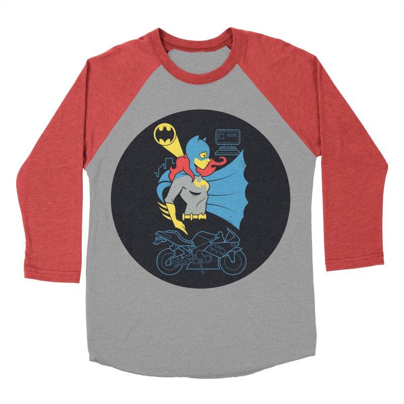 Batgirl - DC Superhero Profiles - w BKG Women's Baseball Triblend Longsleeve T-Shirt by daab Creative's Artist Shop