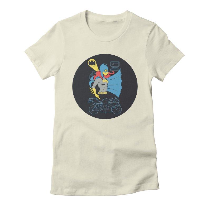 Batgirl - DC Superhero Profiles - w BKG Women's Fitted T-Shirt by daab Creative's Artist Shop