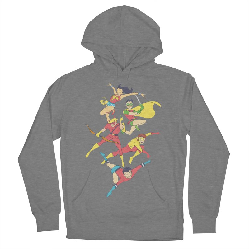 Teen Titans - How It All Began Men's French Terry Pullover Hoody by daab Creative's Artist Shop