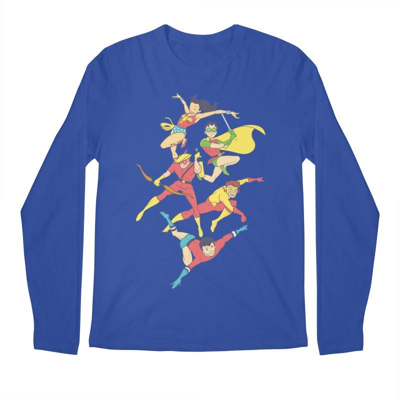 Teen Titans - How It All Began Men's Regular Longsleeve T-Shirt by daab Creative's Artist Shop