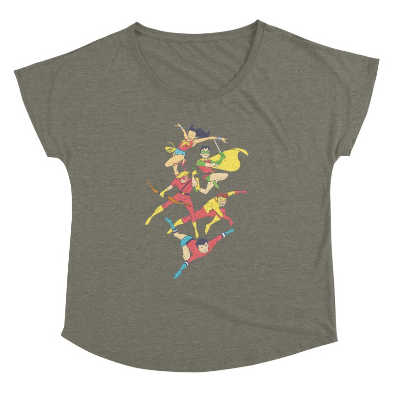 Teen Titans - How It All Began Women's Dolman Scoop Neck by daab Creative's Artist Shop