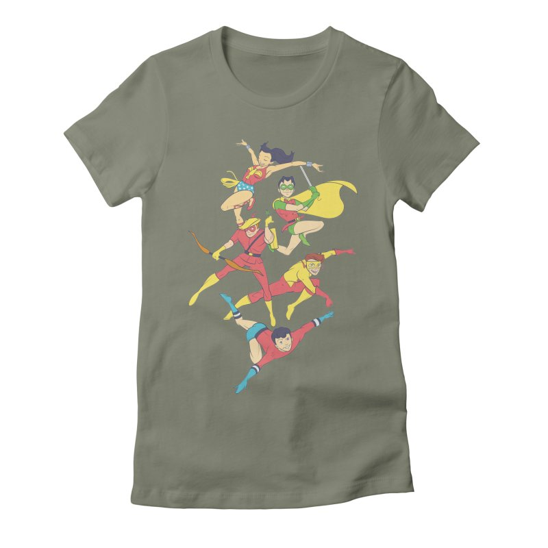 Teen Titans - How It All Began Women's Fitted T-Shirt by daab Creative's Artist Shop
