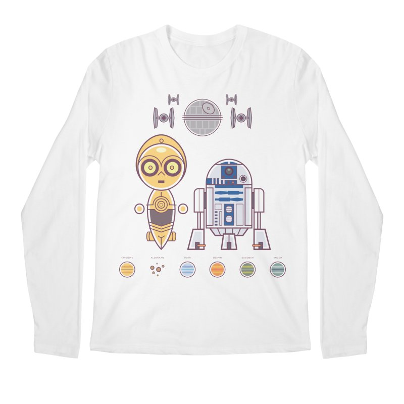 The Droids You're Looking For Men's Regular Longsleeve T-Shirt by daab Creative's Artist Shop