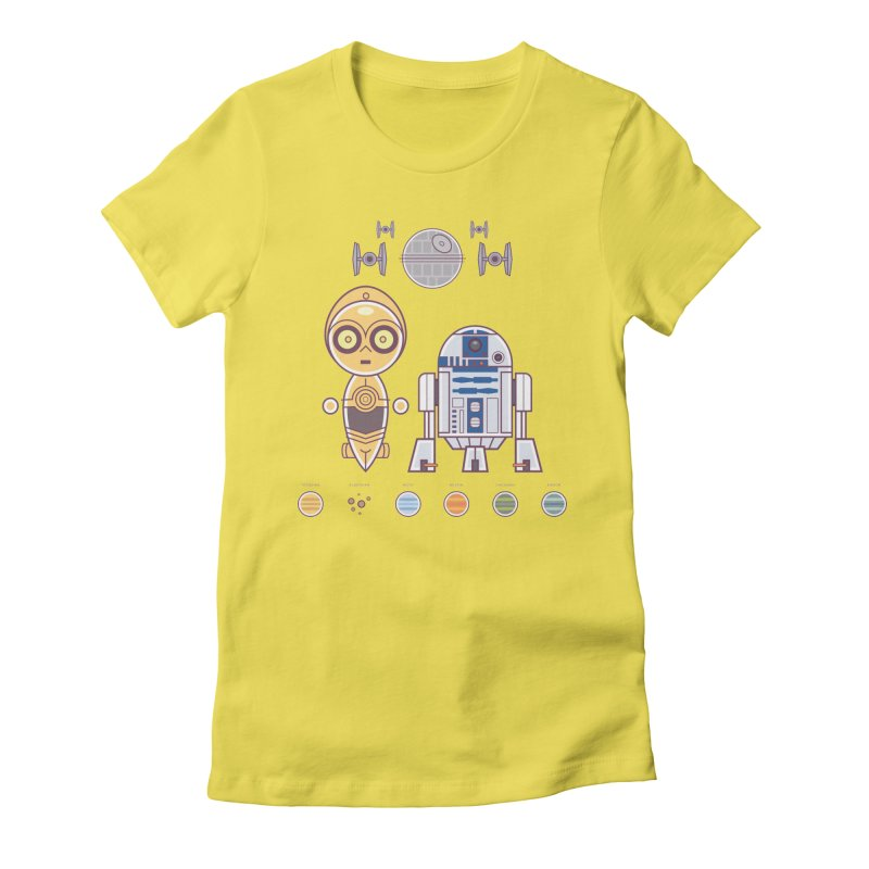 The Droids You're Looking For Women's Fitted T-Shirt by daab Creative's Artist Shop