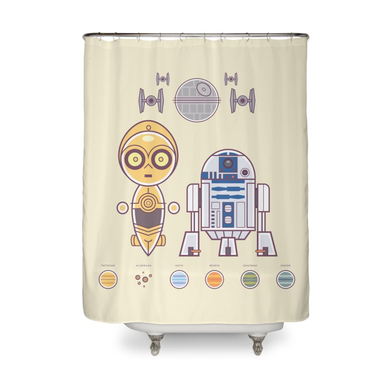 The Droids You're Looking For Home Shower Curtain by daab Creative's Artist Shop