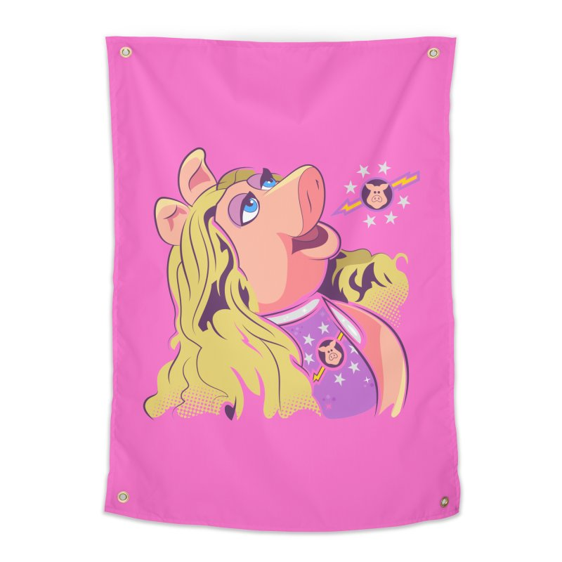 Miss Piggy - Pigs In Space Home Tapestry by daab Creative's Artist Shop