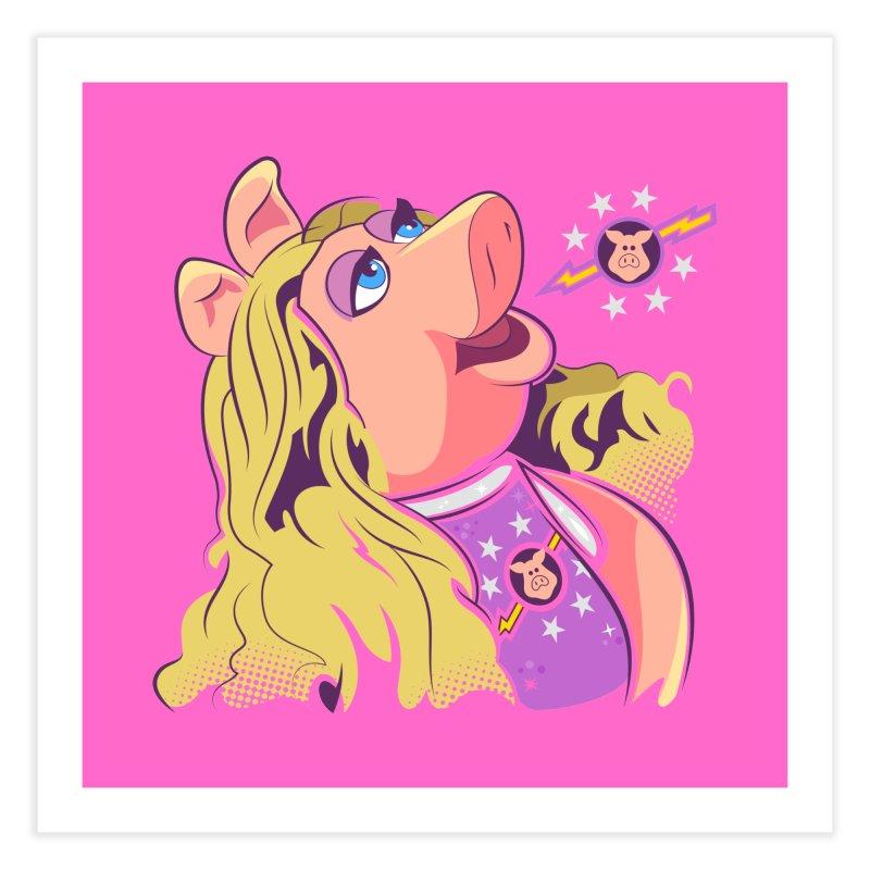 Miss Piggy - Pigs In Space Home Fine Art Print by daab Creative's Artist Shop