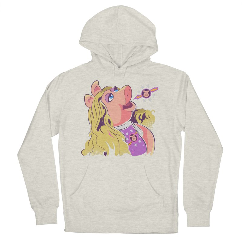 Miss Piggy - Pigs In Space Men's French Terry Pullover Hoody by daab Creative's Artist Shop