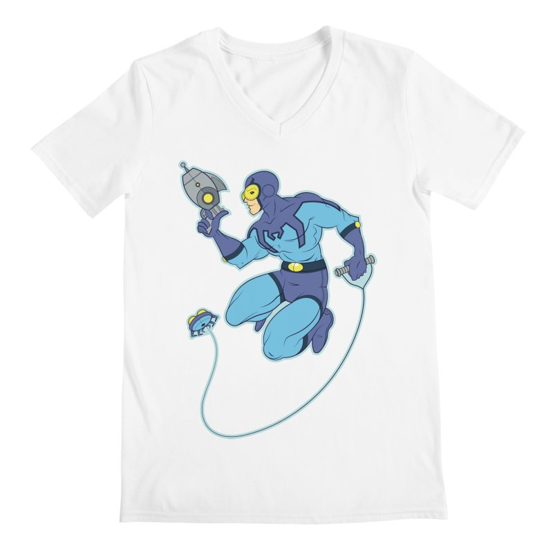 Blue Beetle Men's V-Neck by daab Creative's Artist Shop