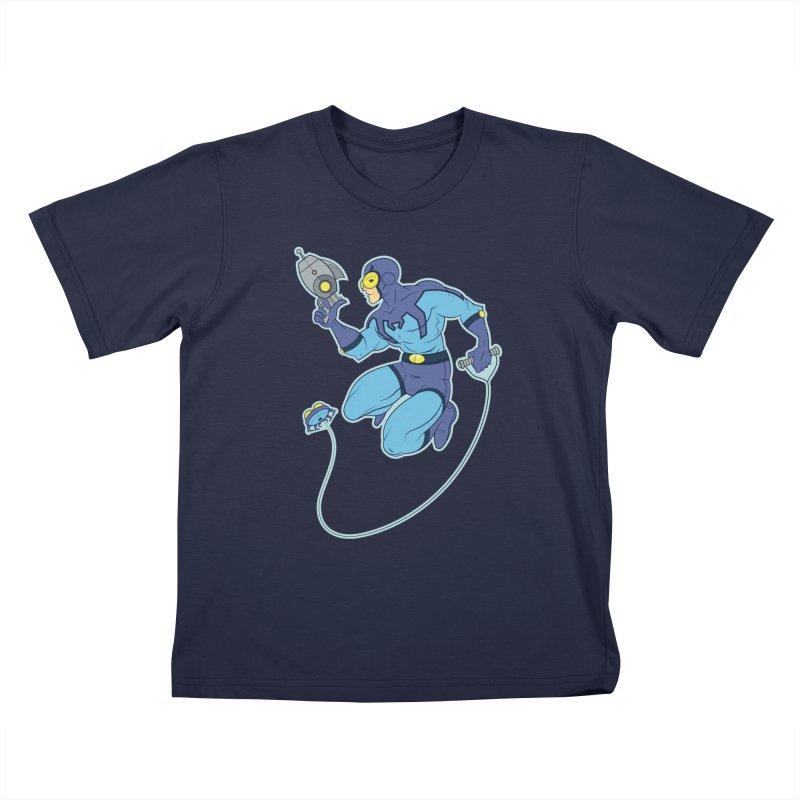 Blue Beetle Kids T-Shirt by daab Creative's Artist Shop