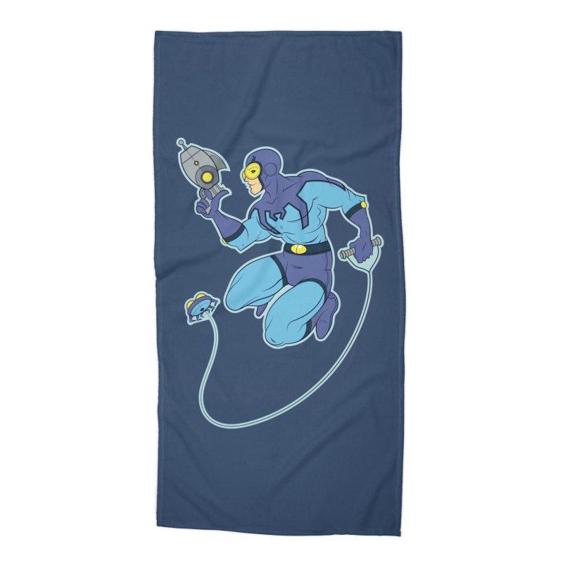 Blue Beetle Accessories Beach Towel by daab Creative's Artist Shop