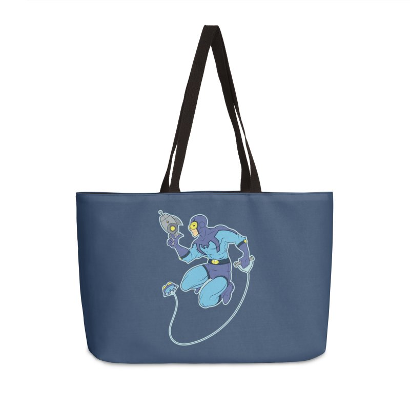 Blue Beetle Accessories Weekender Bag Bag by daab Creative's Artist Shop