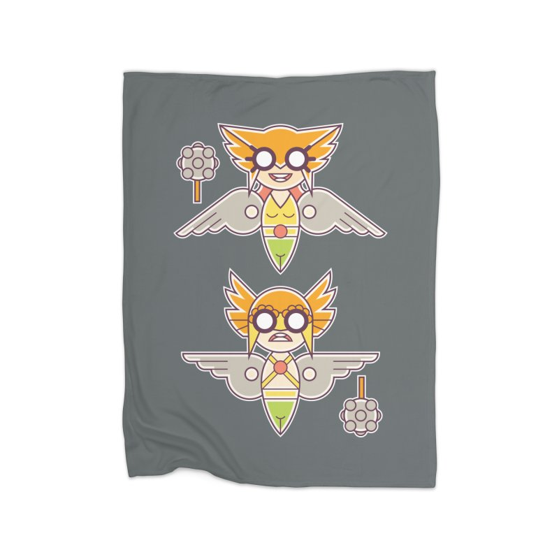 The Hawks: Love Birds Home Fleece Blanket Blanket by daab Creative's Artist Shop