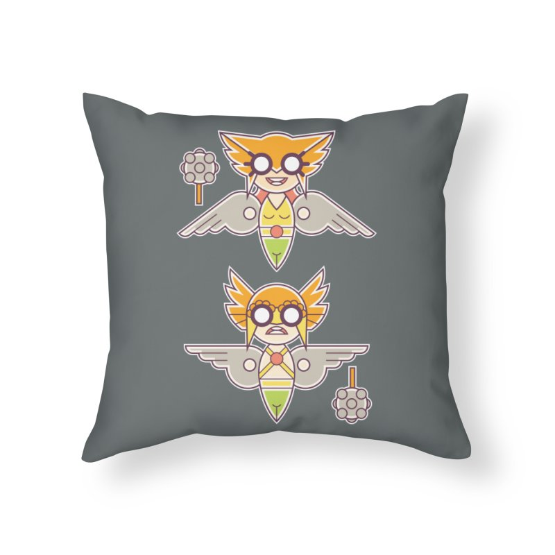 The Hawks: Love Birds Home Throw Pillow by daab Creative's Artist Shop