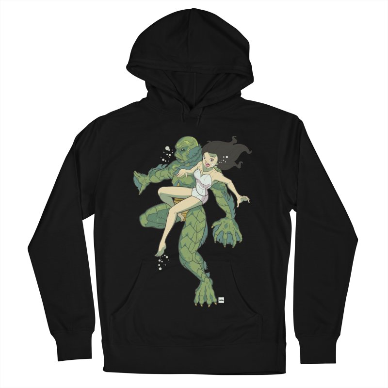 Creature From The Black Lagoon Men's French Terry Pullover Hoody by daab Creative's Artist Shop