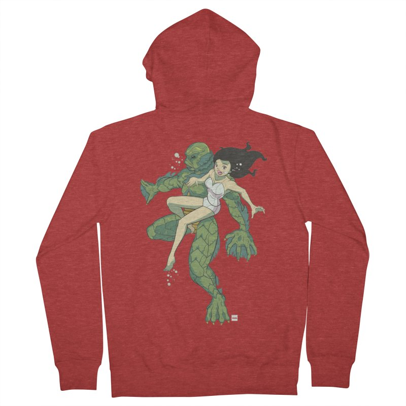 Creature From The Black Lagoon Women's French Terry Zip-Up Hoody by daab Creative's Artist Shop