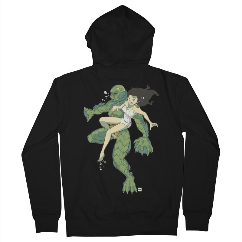 Creature From The Black Lagoon Men's French Terry Zip-Up Hoody by daab Creative's Artist Shop
