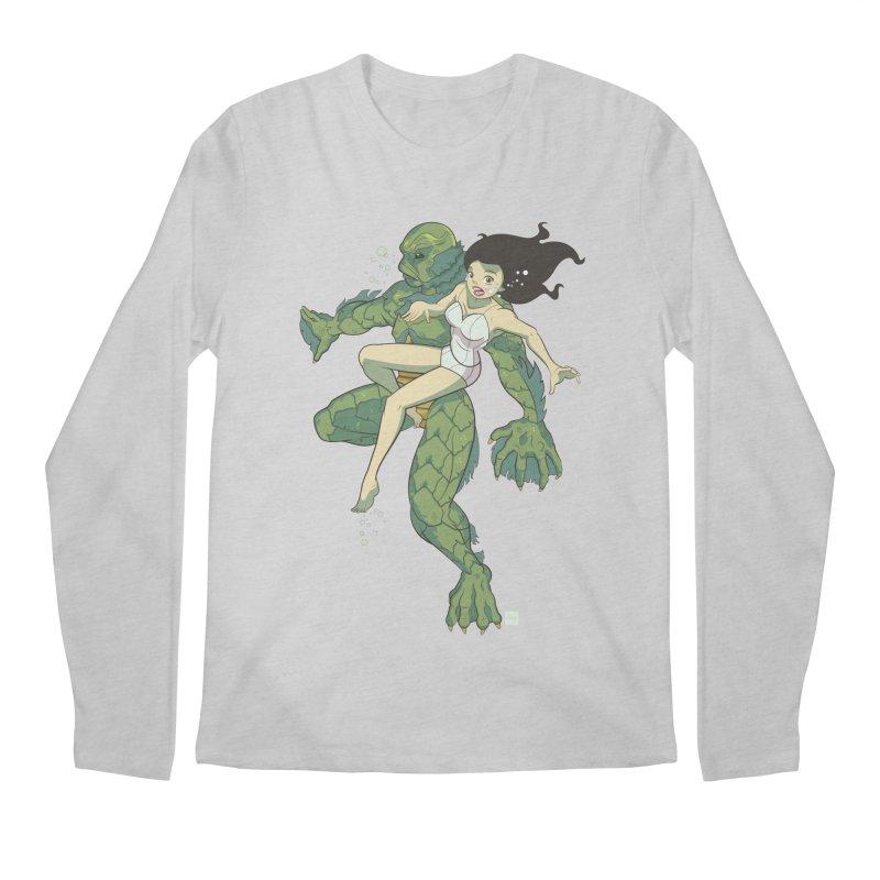 Creature From The Black Lagoon Men's Regular Longsleeve T-Shirt by daab Creative's Artist Shop